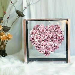 Heart Shaped Flowers Super Fire Soap Flower Rose Gift Box Christmas Valentineand039s
