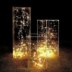 Wedding Party Stage Table Centerpieces Backdrop Acrylic Transparent Road Lead
