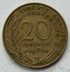 France, 1963, 20 Centimes Coin P114