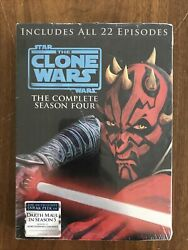 Star Wars The Clone Wars - The Complete Season Four Dvd, 2012, 4-disc Set New