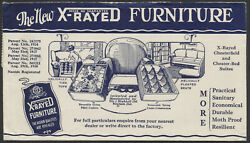 1934 Fry And Blackhall X-rayed Furniture Illustrated Advertising, Wingham Ont