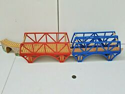 Thomas And Friends Train Tank Wooden Railway - Old Iron Double Wide Bridge Lot X4