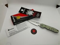 Spyderco M4 Smock Compression Lock Exclusive Knife Natural G-10 3.5 Satin