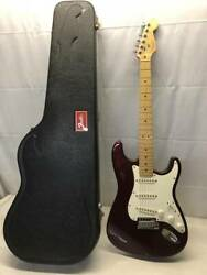 Junk Treatment Beautiful Electric Guitar With Case Fender Usa Stratocaster _7631