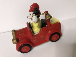 Disney Schmid Collectible Music Box Mickey Mounse Fire Engine Chariots Of Fire