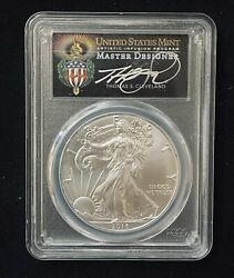 2016 W 1 Silver Eagle Pcgs Ms70 Fs Strum At West Point 30th Anniversary