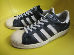 Vintage Adidas Superstar Sneakers Black X White Us 8 26.5cm From France Rare