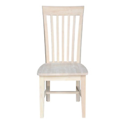 Ready To Finish Solid Wood Unfinished Wood Mission Dining Chair Set Of 2-chairs