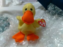 Error Beanie Baby Quackers Swing Tag Is 94 And Tush Tag Is 93