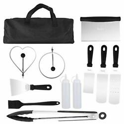 Blackstone Grill Accessories Set, 12 Pcs Griddle Barbecue Tools Kit- Outdoor Bbq
