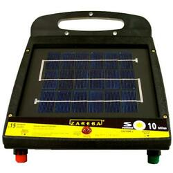Solar Fencer Fence Charger Fencing Electric Security Farm Low Impedance 10 Mile