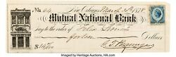 Civil War General P G T Beauregard Filled Out And Signed A Superb Personal Check