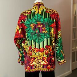 Gianni Versace Istante Silk Shirt Fall Print Size It 46 From Fw 1993/94