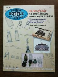 Antique Bottle And Glass Collector Magazine July 2002 Vol. 19 No. 3