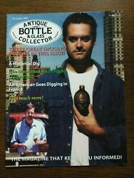 Antique Bottle And Glass Collector Magazine November 2002 Vol. 19 No. 7