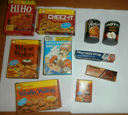 Lot Of Vintage Boxes Of Play Food Name Brands Cereal Crackers More