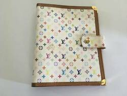 Used Louis Vuitton R20894 Agenda Gm Notebook Cover Multicolor White Pink
