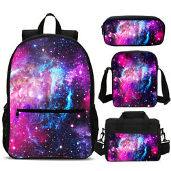 Galaxy Starry Sky Cosmos Kids Backpacks School Cooler Lunch Bag Pencil Case Lot $17.99