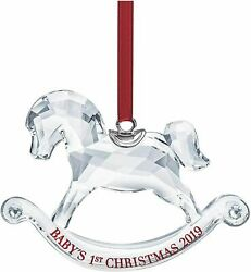 New In Box Sparkling Crystal Baby's 1st Christmas Ornament 2019