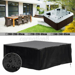 Waterproof Anti-uv Hot Tub Dust Spa Cover Square Durable Protective Guard 94.5''