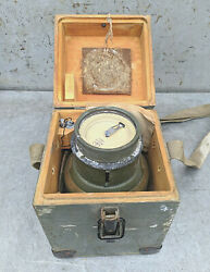 Compass Goniometer Surveying Angle Meter 1954 Protractor Ussr Vintage Soviet