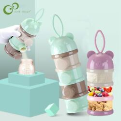 3 / 4 Layers Bear Style Portable Baby Food Storage Box Cereal Milk Powder
