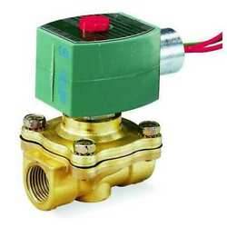 Asco 8210g100 120v Ac Brass Solenoid Valve Normally Closed 2 In Pipe Size
