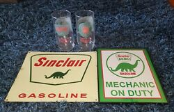 Vintage Sinclair Gasoline Dino Glasses Advertising Through The Years And Signs