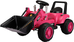 Tobbi Excavator Ride Toy For Kids,power Wheel Pedal Tractor With Working Loader,