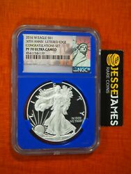 2016 W Proof Silver Eagle Ngc Pf70 Ultra Cameo From Congratulations Set Label