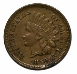 1859 Copper Nickel Indian Head Cent Coin