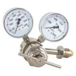 Miller Electric 826-0009 Specialty Gas Regulator, Single Stage, Cga-580, 0 To