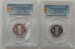 Isle Of Man Rare Silver 1 Pound Proof Coin 1988 Km213a Pcgs Pr68 Mobile Phone