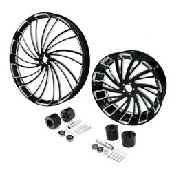 30 Front 18'' Rear Wheel Rim And Disc Hub Fit For Harley Electra Road Glide 08-21