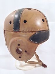 Vintage Antique 1930's Wilson D254 Leather Football Helmet Old And Nice