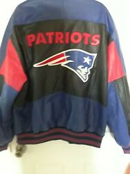 New England Patriots Xxl Leather Football Jacket . Vintage And New Condition