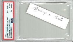 Marion Carl Signed Cut Signature Psa Dna Slabbed 84293443 D Wwii Ace
