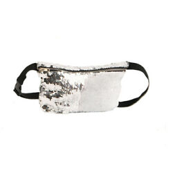 1Pc Waist Bag Durable Sequins Fashionable Multifunctional Cosmetic Bag for Girls $10.38