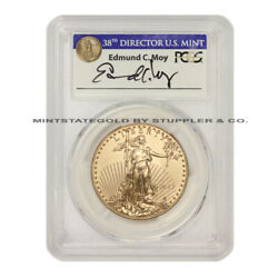 2017 50 Eagle Pcgs Ms70 First Day Of Issue Fdoi Gold Bullion Coin W/ Moy Label