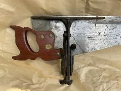 """Vtg Antique Hand Saw Sharpening Vise Clamp Tool 9.5"""" No.3 Hand Saw Not Included"""