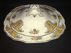 Vintage Myott, Son And Co. F3044 Covered 9 Serving Bowl Dish Embossed England