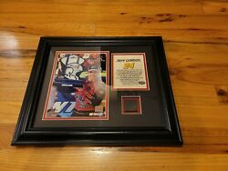 Nascar Jeff Gordon Framed Race-used Tire Limited 1/524 Mounted Memories