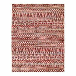 Feizy Sattika 7and0399 X 9and0399 Hand Knot Viscose Fabric Area Rug In Crimson Red