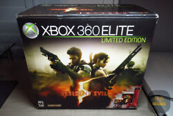 Xbox 360 Elite Resident Evil 5 Limited Edition 120gb Red Game Console Ntsc New