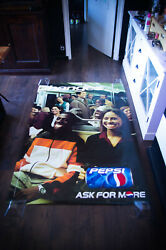 Pepsi Think Different 1993 4x6 Ft Shelter Original Food Advertising Poster