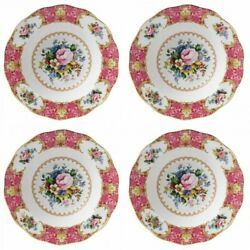 Royal Albert Lady Carlyle Rim Soup Bowl 4 Bowls New With Tag