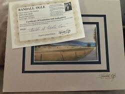 Randall Ogle Fields Of Cades Cove Limited Edition Signed Matte Art + Certificate