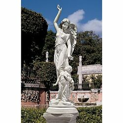 Ky1456 - Queen Of Angels Guardian Of Children Statue - Stone Finish