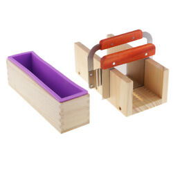 4pcs Wood Box Food Grade Soap Making Silicone Mold Scale Mark Cutting Mould Tool