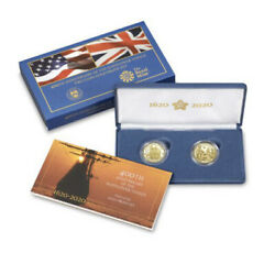 2020 Mayflower 400th Anniversary 2-coin Gold Proof Set In Original Packaging
